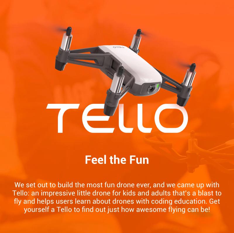 Advertisement, New Genuine Mini DJI Tello Drone Quadcopter With 720P HD Camera FPV