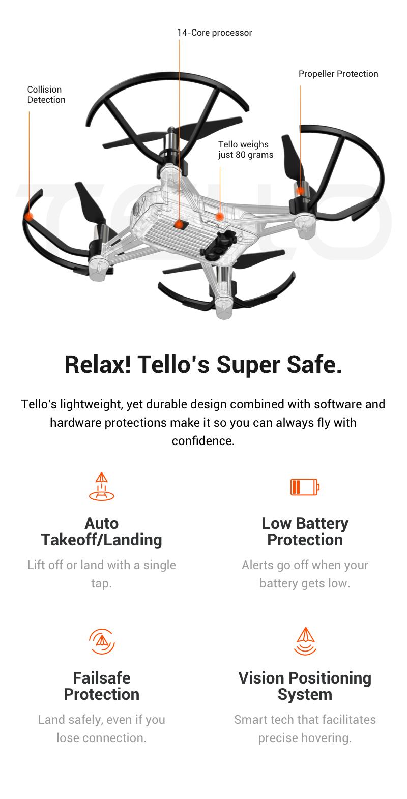 Mini DJI Tello Drone Quadcopter